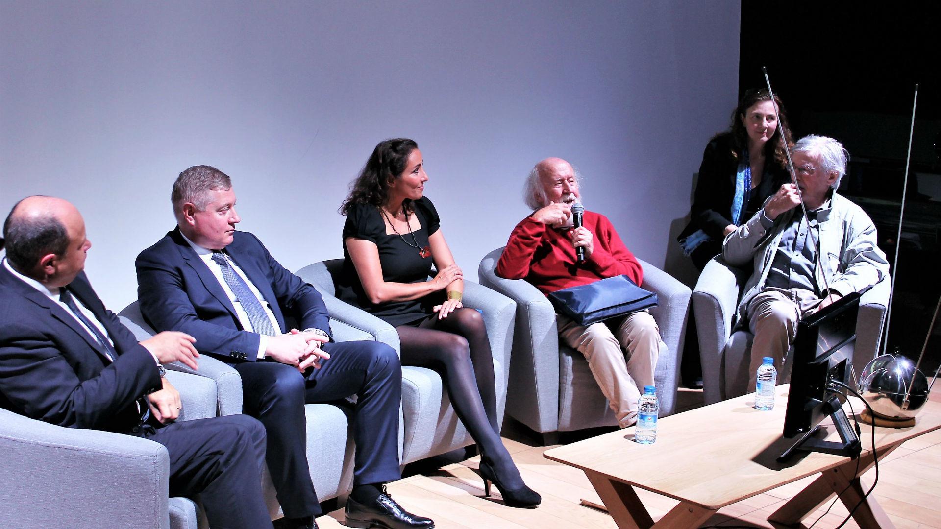 Lionel Suchet, Sergey Saveliev, Naziha Mestaoui, Hubert Reeves, Hervé Fischer.
