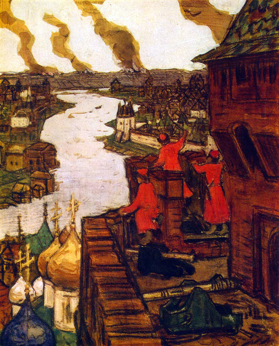 Tatars are coming! by Apollinary Vasnetsov.
