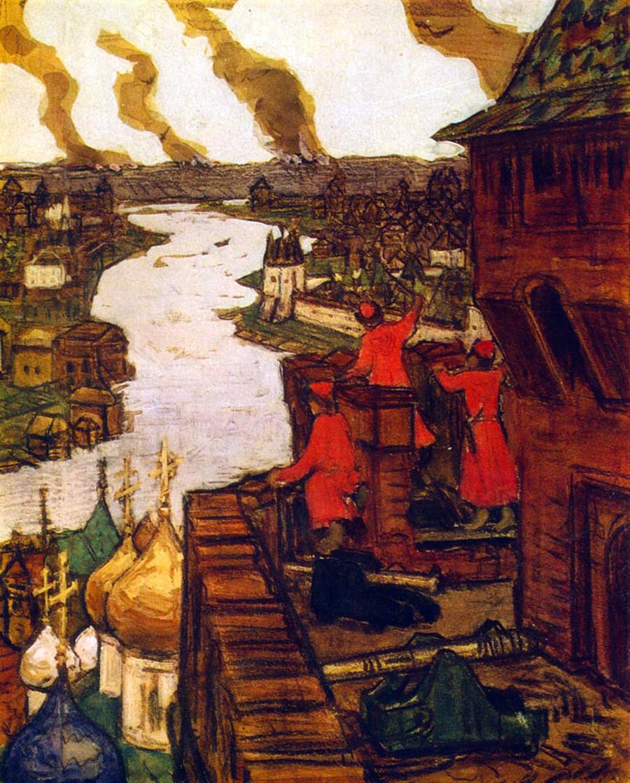 Tatars are coming! by Apollinary Vasnetsov.