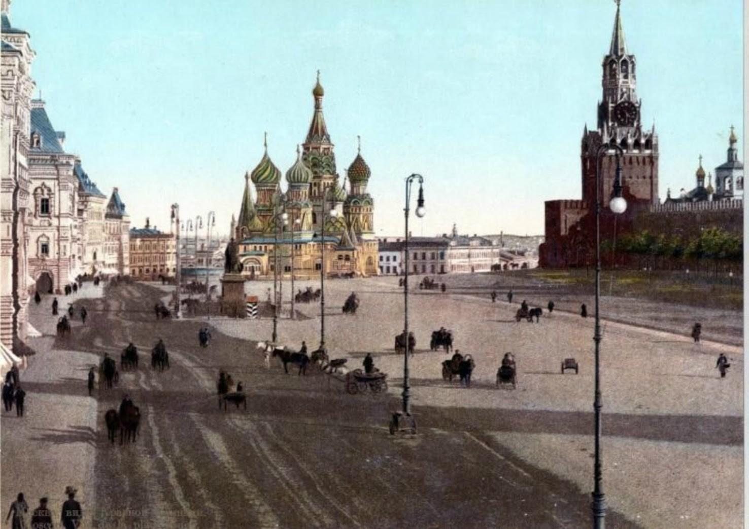 赤の広場、1900〜1910年代。