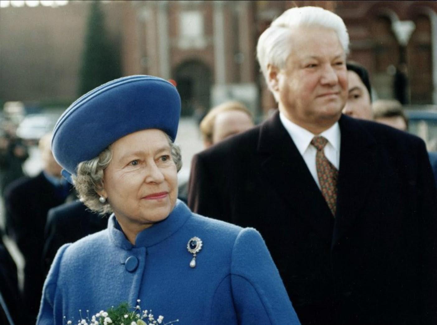 1994年10月16日、英国のエリザベス2世のロシア訪問。