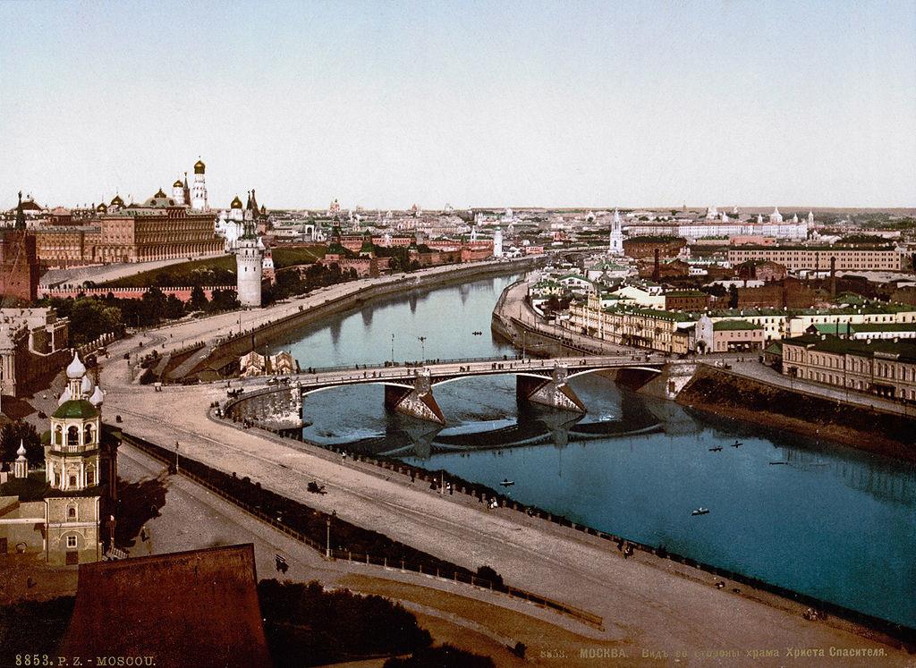 Pogled na mestno središče v 19. stoletju