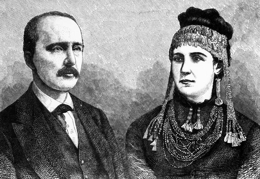 Heinrich Schliemann s svojo ženo