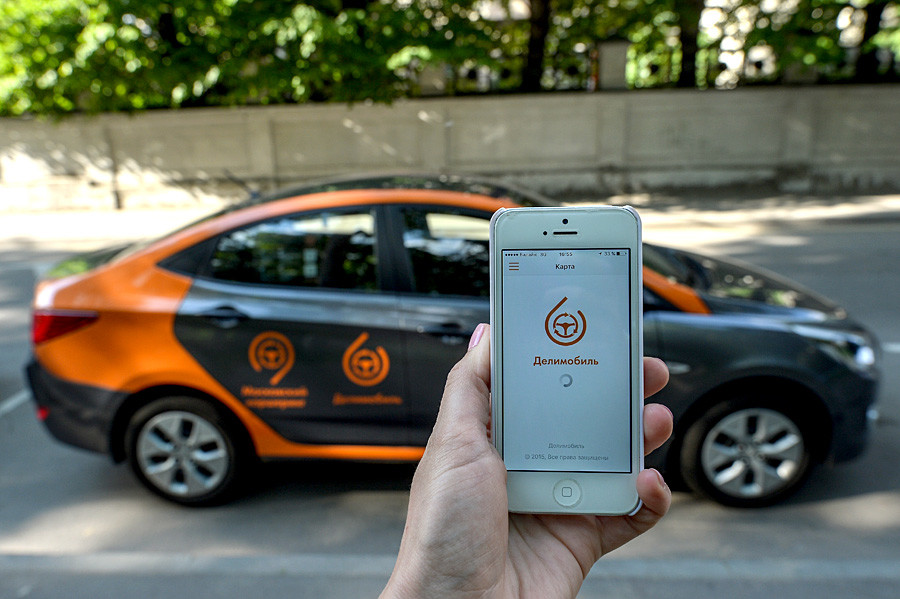Delimobil Moscow carsharing service