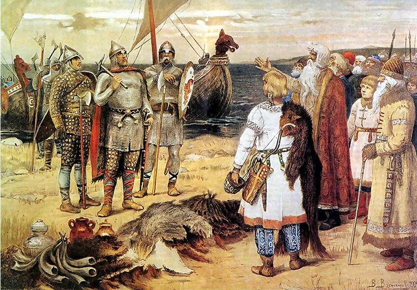 Viktor Vasnecov, Povabilo varjagov: Rjurik in njegovi bratje so prišli v Staro Ladogo