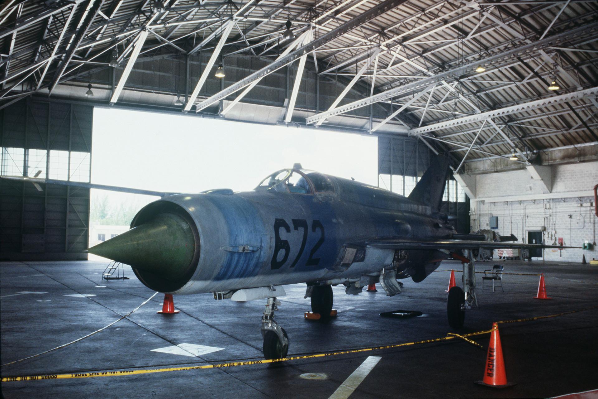 Um MiG-21 cubano.
