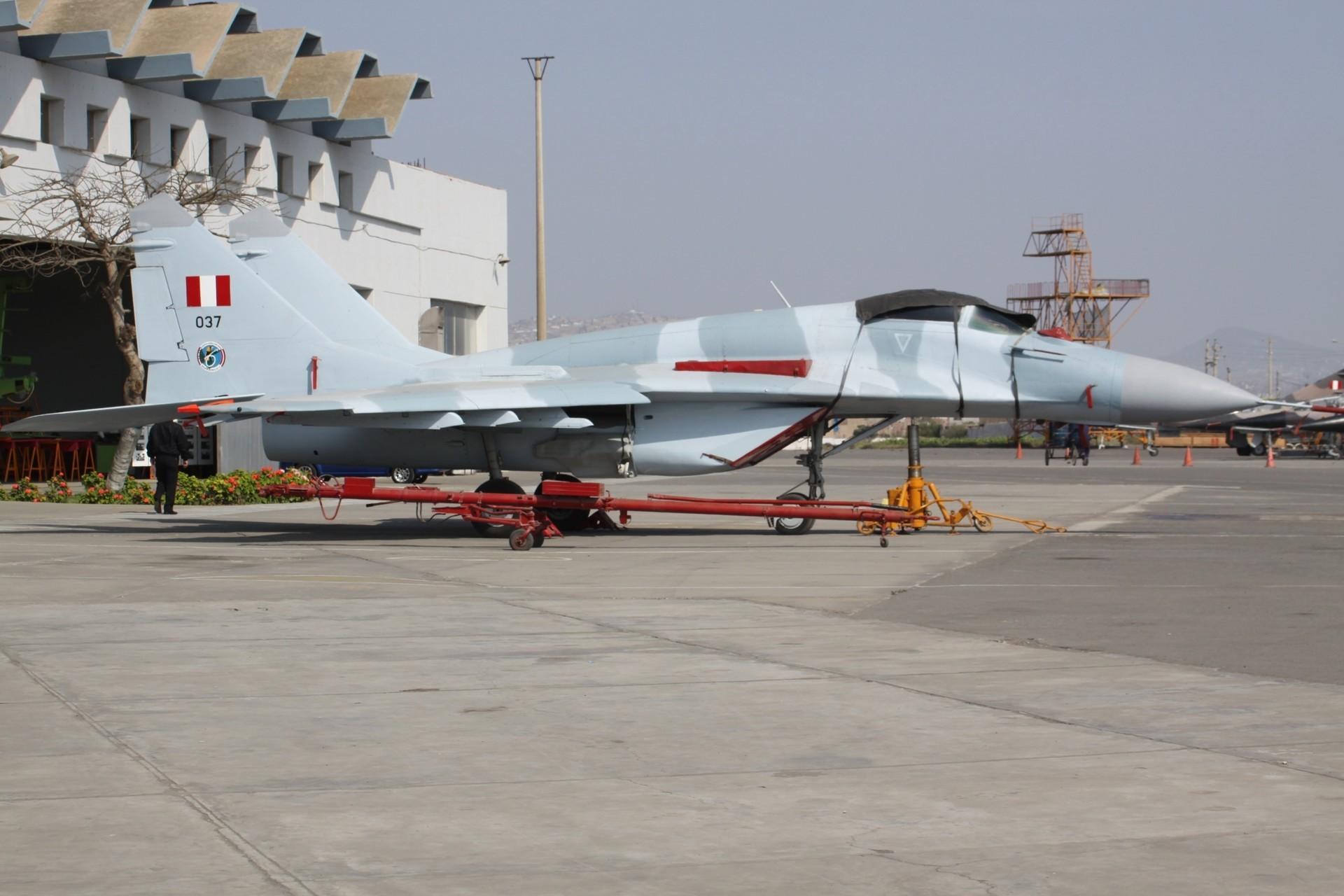 Um MiG-29 peruano.