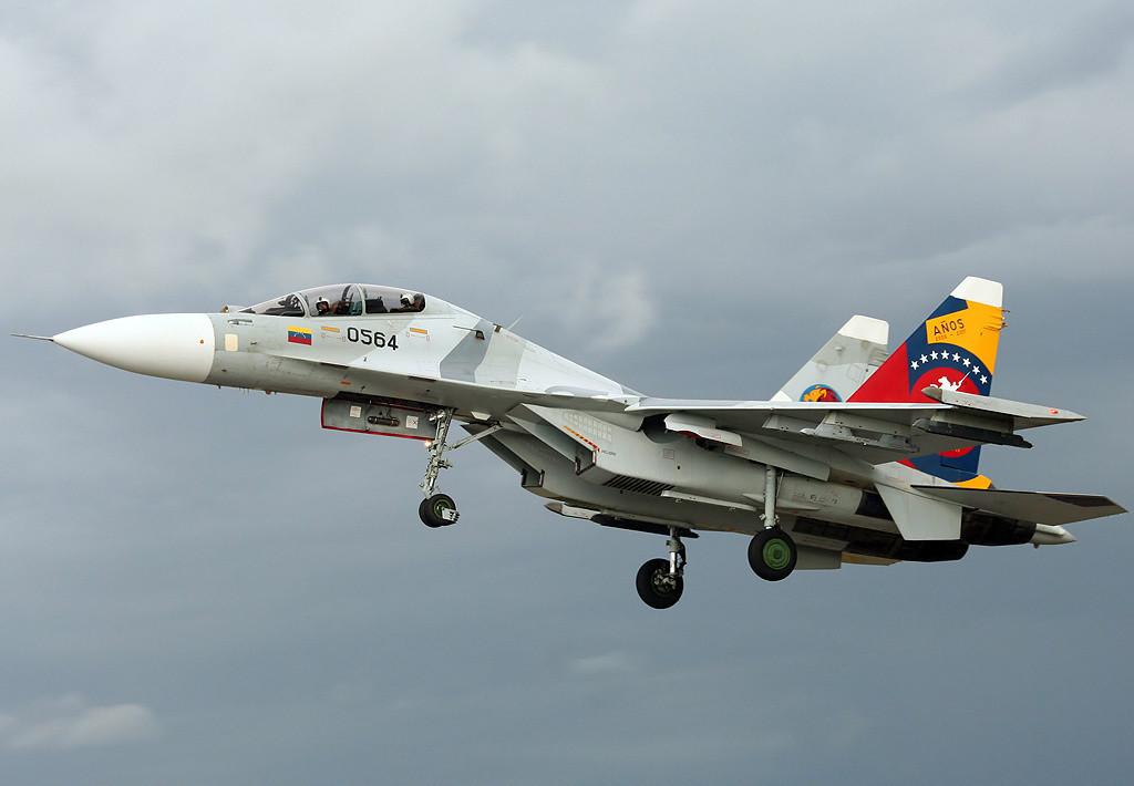 Um Su-30 venezuelano.