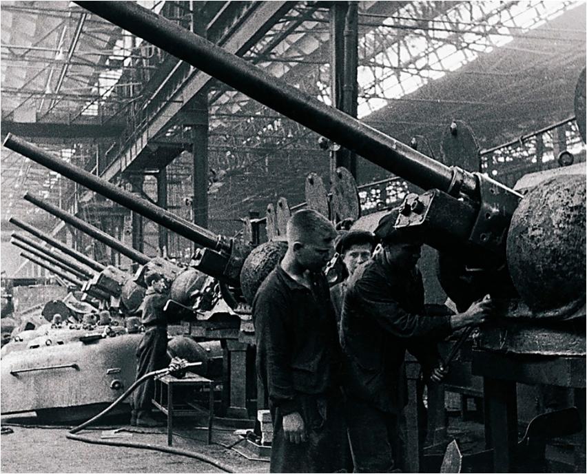 Kirovska tovarna Narodnega komisariata za proizvodnjo tankov, danes Čeljabinska tovarna traktorjev.