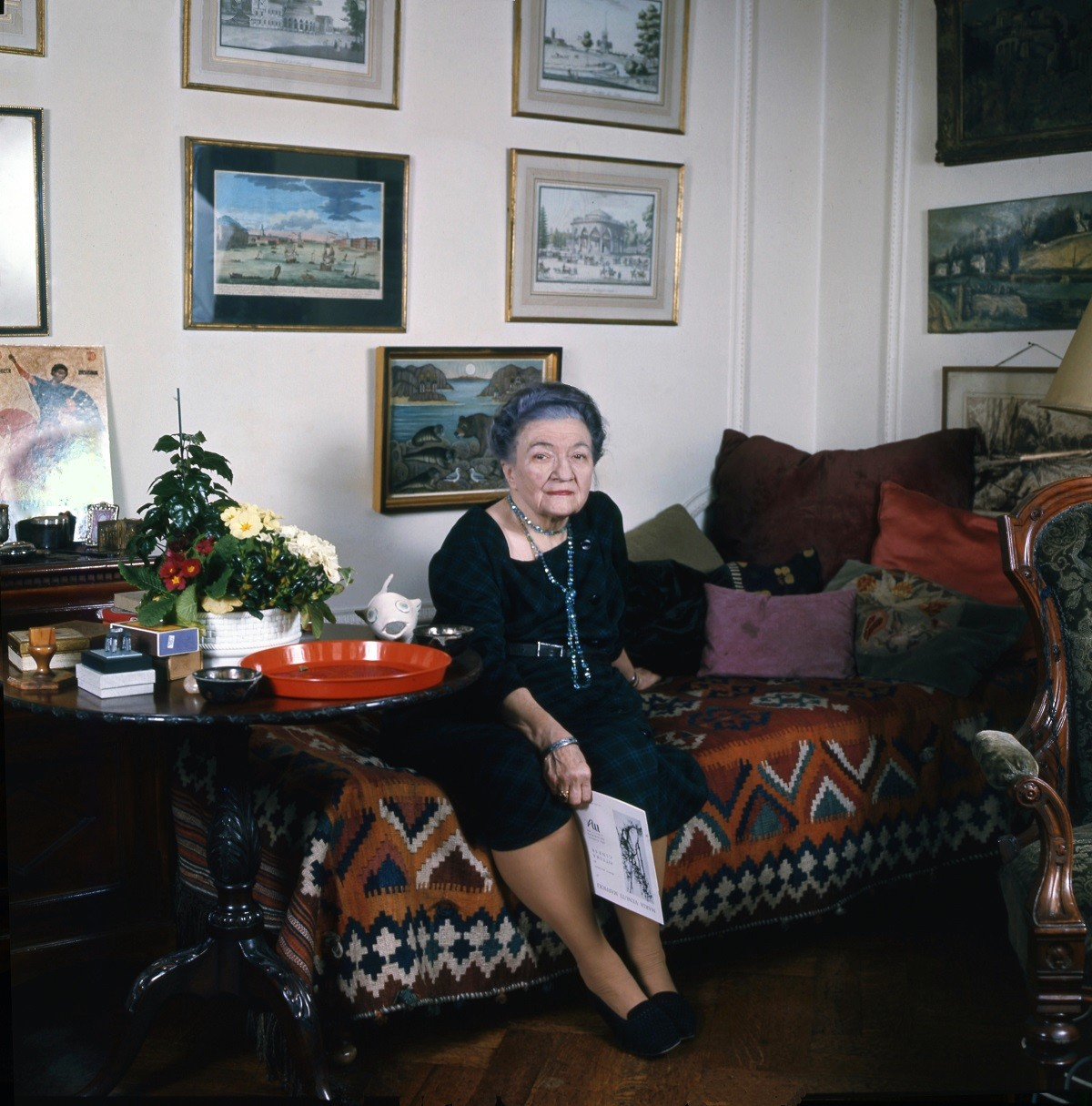 Moura Budberg. Picture taken in her apartment in London in 1972 by Allan Warren