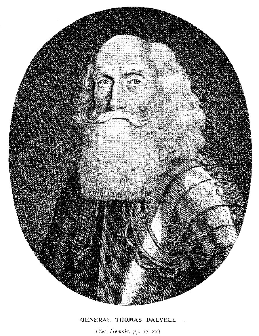 Engraving of General Thomas Dalyell from