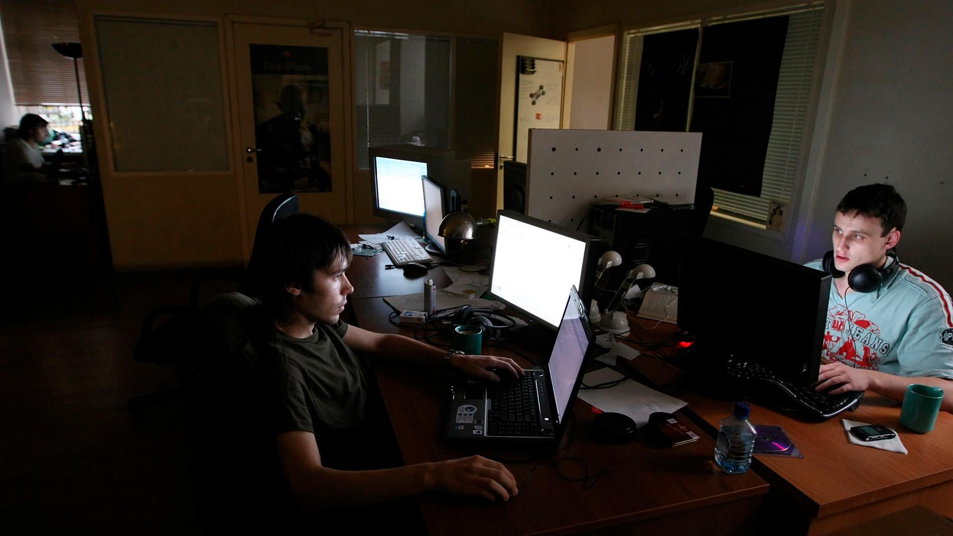 Trabajadores en el estudio Art.Lebedev.