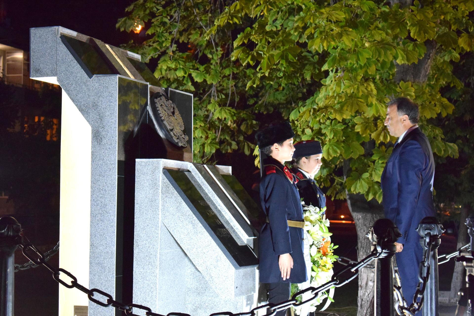Откриването на Мемориал в чест на героите от Руско-турската война през 1877-1878 г., загинали за освобождението на Нова Загора – 11 октомври 2017 г., Нова Загора.