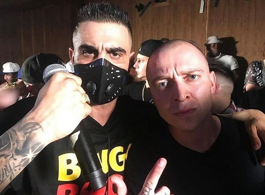 Oct. 15, 2017. - U.S., Los Angeles. -  Dizaster vs Oxxxymiron rap battle.