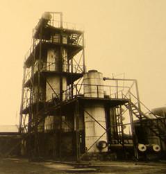 Eine industrielle Anlage zum Cracking, Baku, 1934