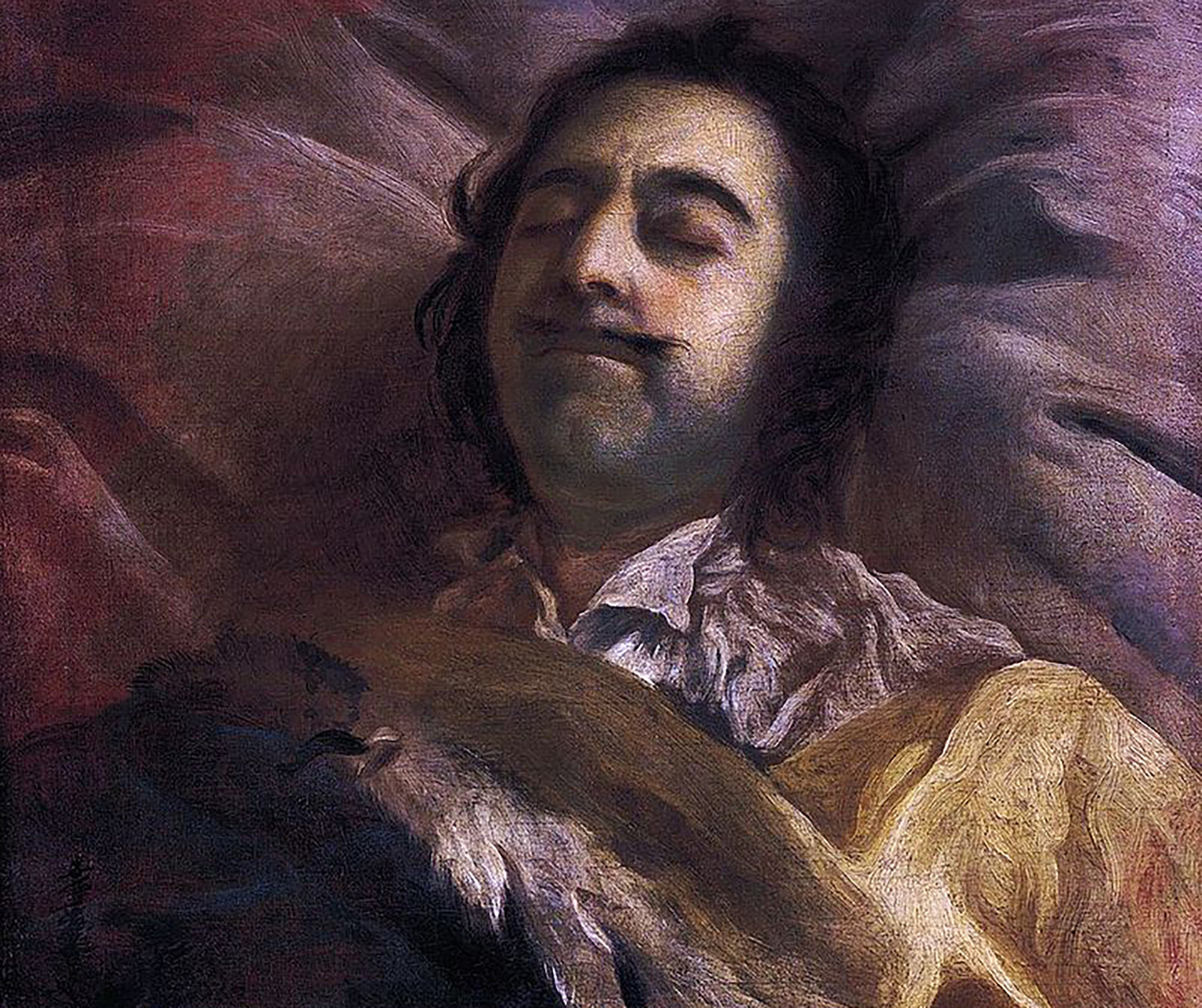 Peter I on his deathbed. Painting by Ivan Nikitin.