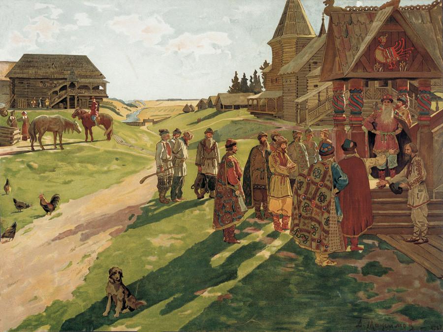 Aleksej Maksimow (1870-1921): Ein mittelalterliches Prinzenanwesen in der Alten Rus