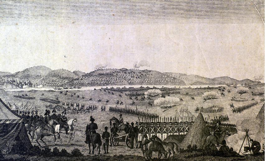 Predaja turških vojakov pri Sloboziji.