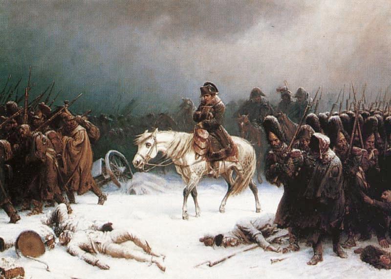 Adolph Northen: Napoleons Rückzug aus Russland (Öl auf Leinwand)