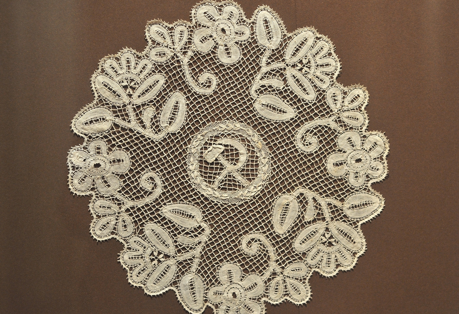 The lacy Soviet napkin, Museum of Lace.