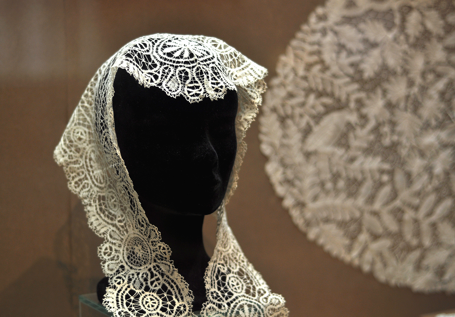 A lacy shawl, Museum of Lace.