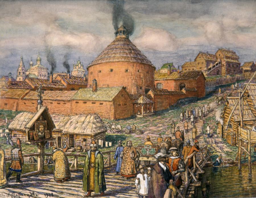 """Производство на топови на реката Неглинка"", Аполинариј Васнецов."