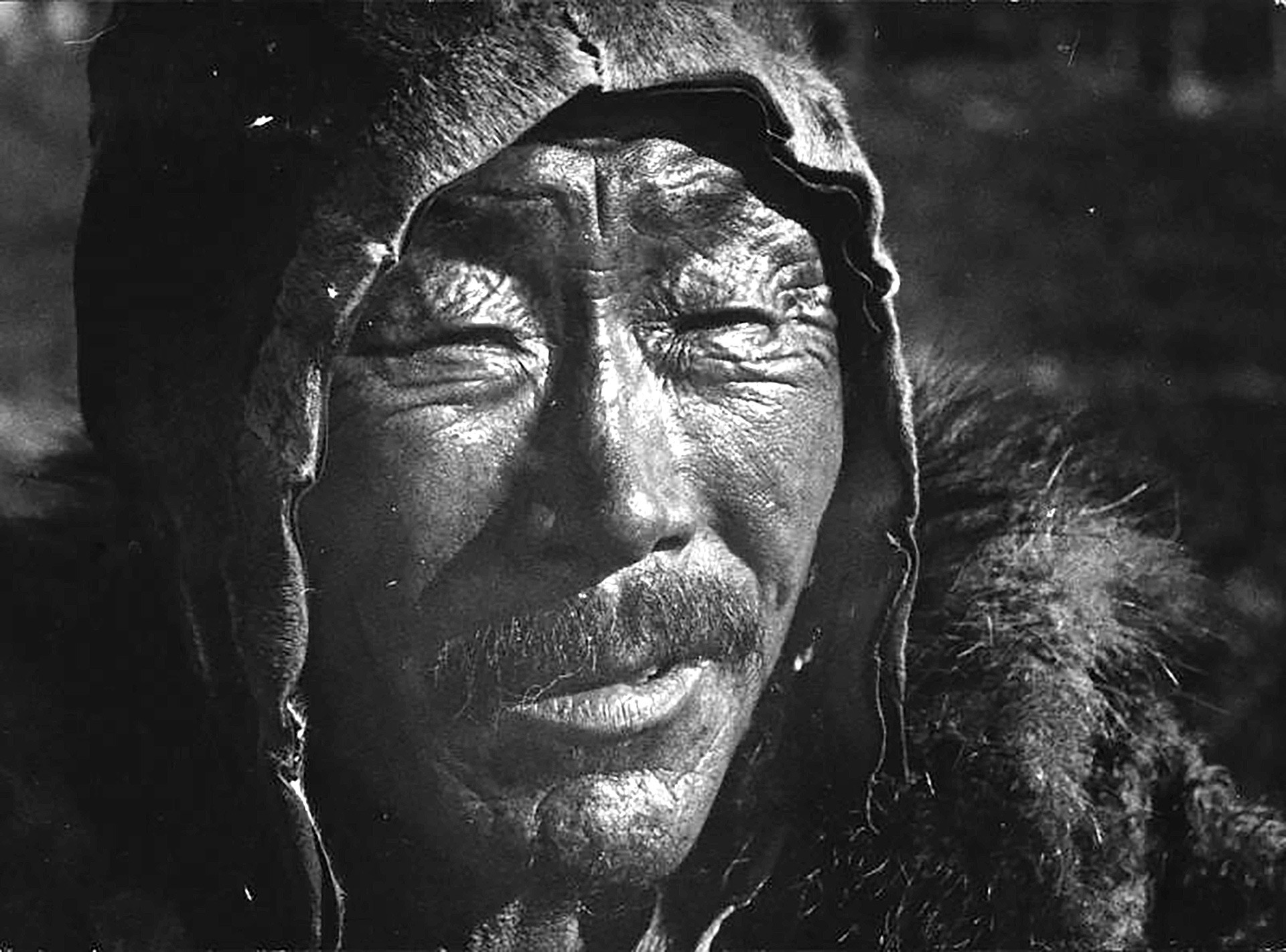 A Chukchi man. Though their traditional life is quite peaceful, they can hunt not only reindeers.