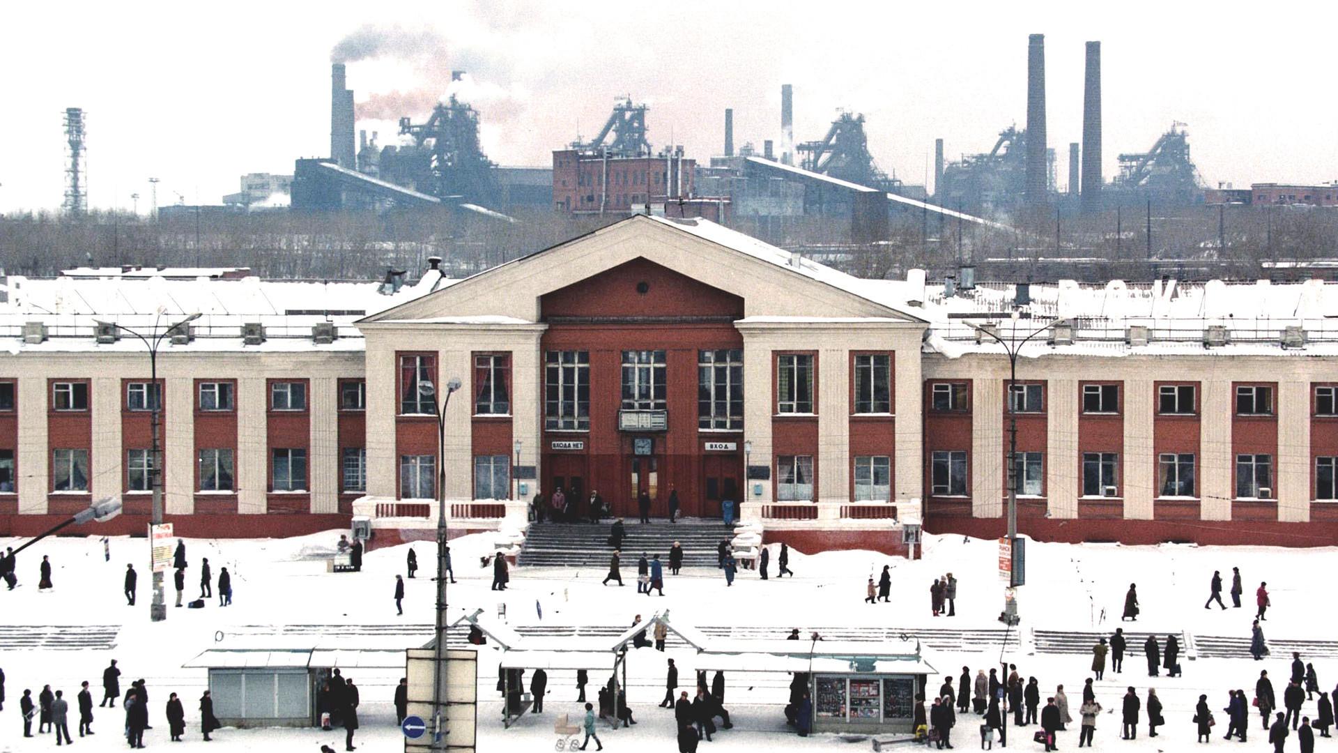 Estacão de trem em Níjni Taguil na região de Sverdlovsk