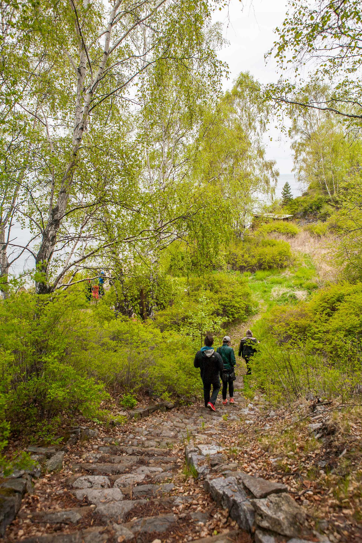 En el pueblo Listvianka.