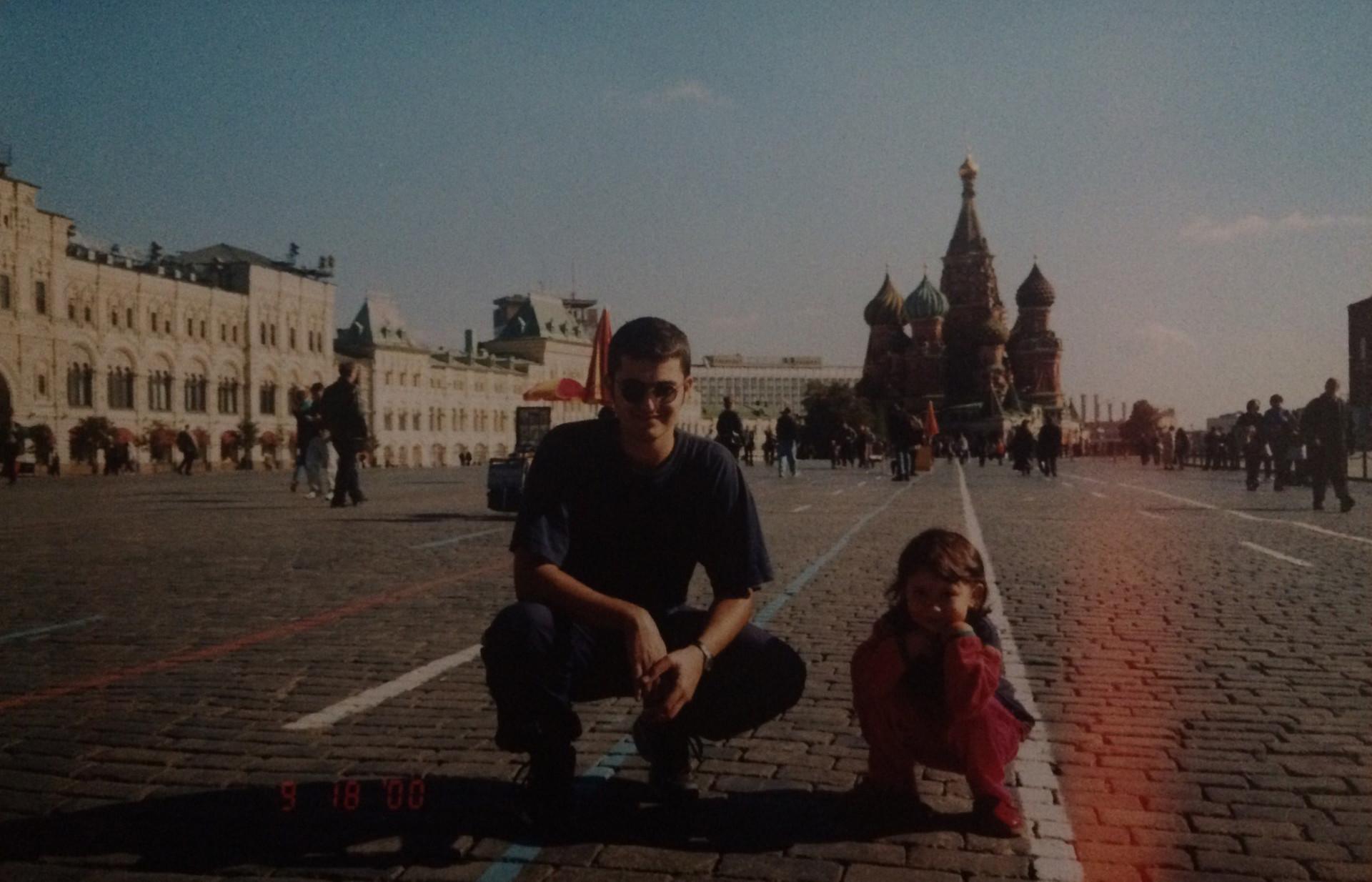 Данило на Црвеном тргу 2000. године.