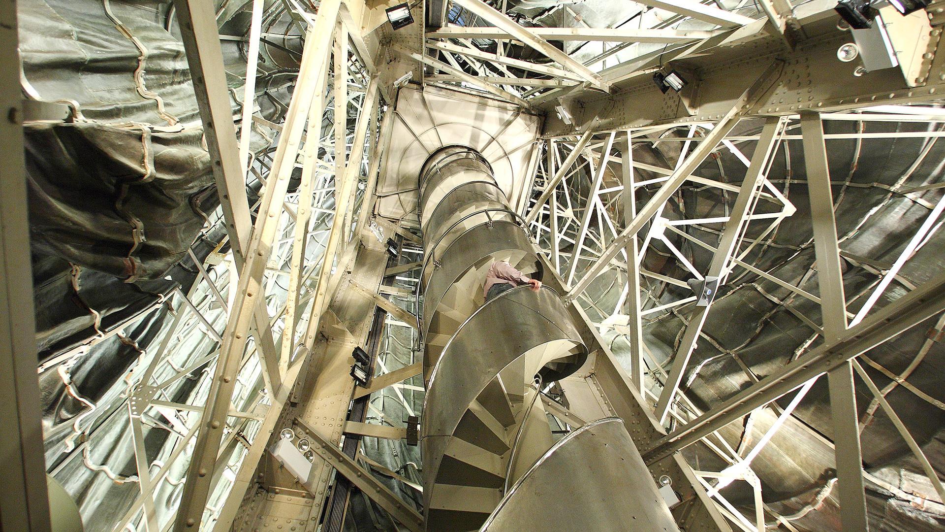 L'escalier à l'intérieur de la Statue de la Liberté