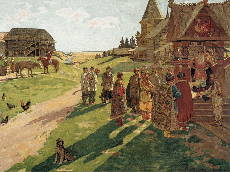「大公の屋敷で」、アレクセイ・マクシモフ画