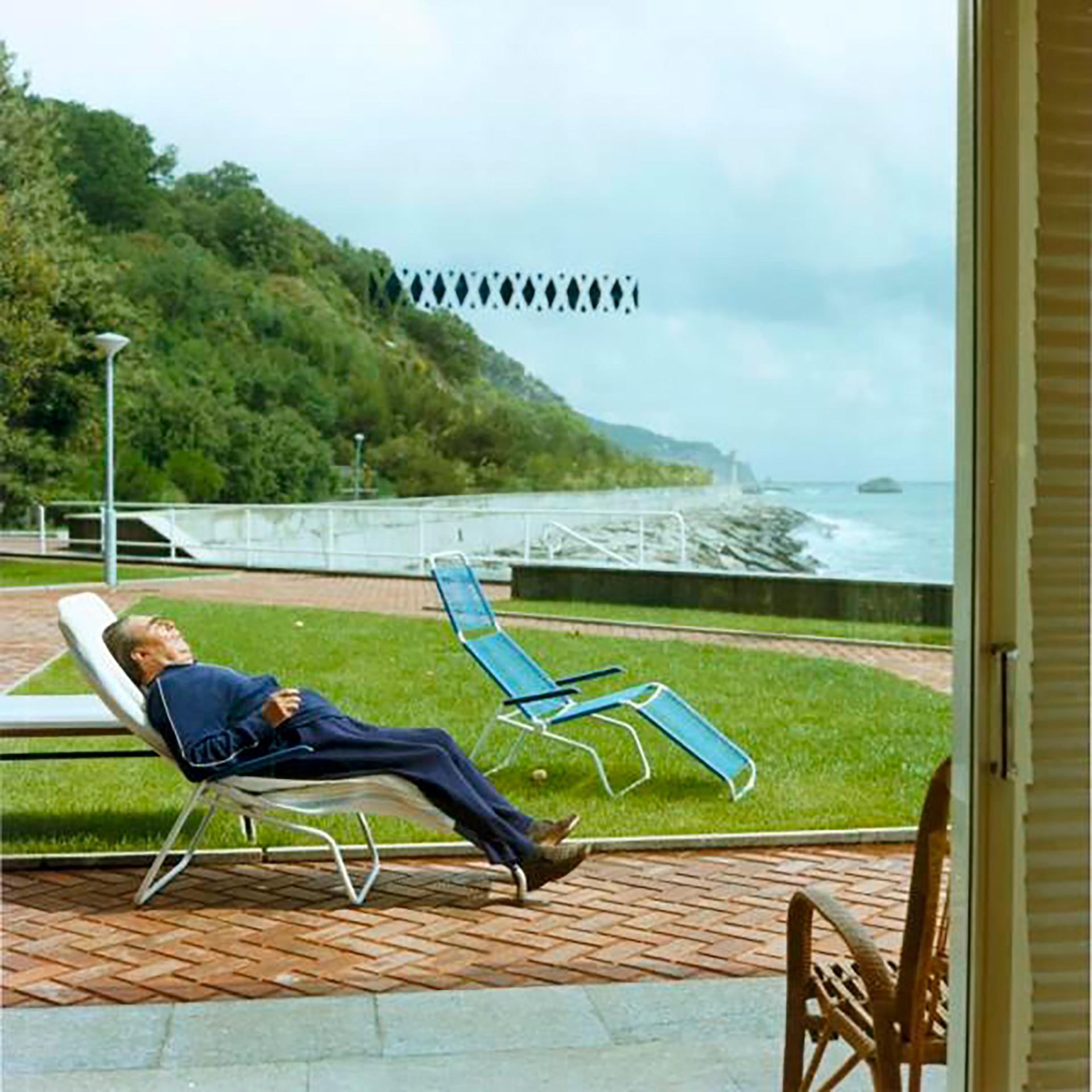 Seinen wenigen Urlaub verbrachte Breschnew stets auf der Krim. Das Bild zeigt ihn 1982 beim Sonnenbaden im Sanatorium Nieder-Oreanda nahe Jalta.