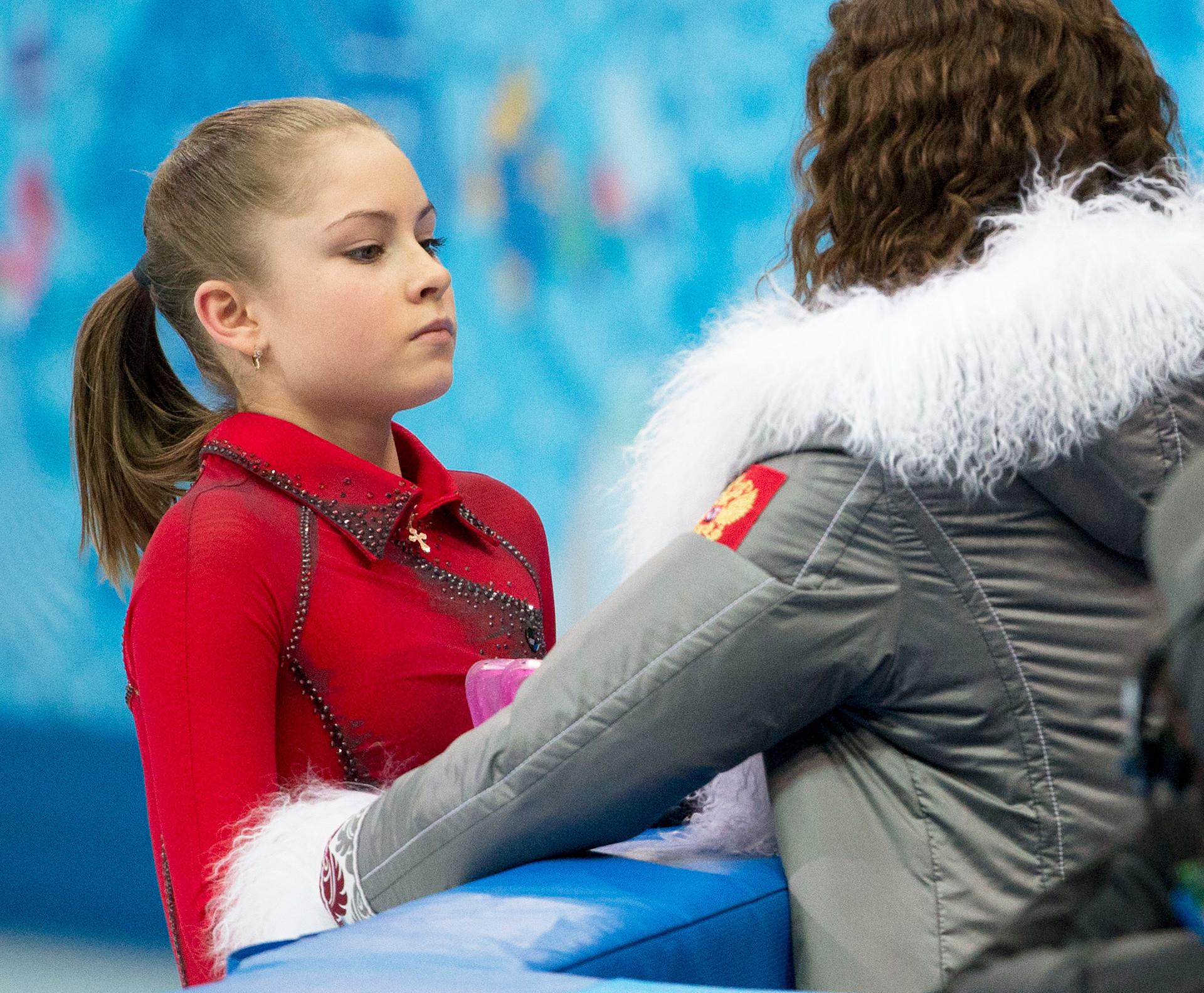 Julia Lipnitskaya aux JO de Sotchi.