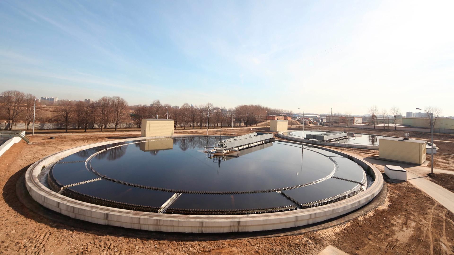 Estação de tratamento de água em Moscou