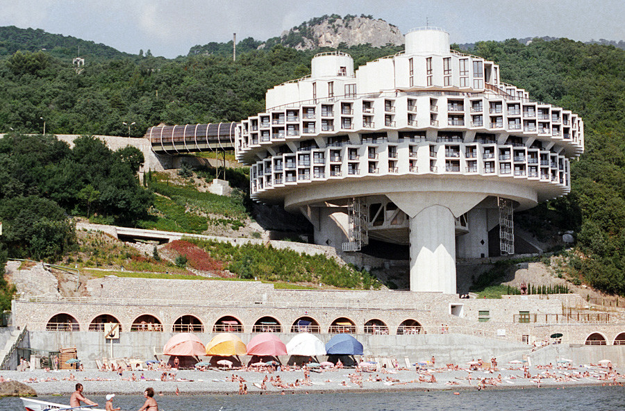 The Friendship holiday hotel in Yalta on the Black Sea coast.