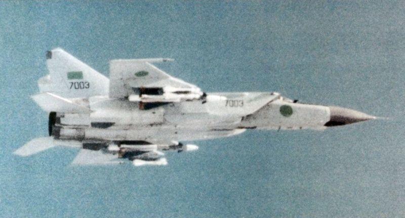 Avión MiG-25 libio.