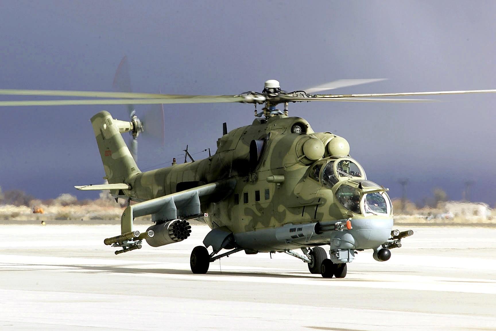 Helicóptero Mi-24.