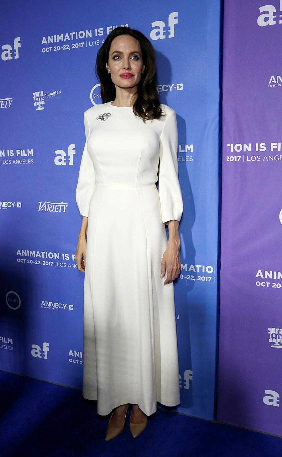 Американската актерка Анџелина Џоли на премиерата на The Breadwinner. 20 октомври 2017, Лос Анџелес, Калифорнија, САД.