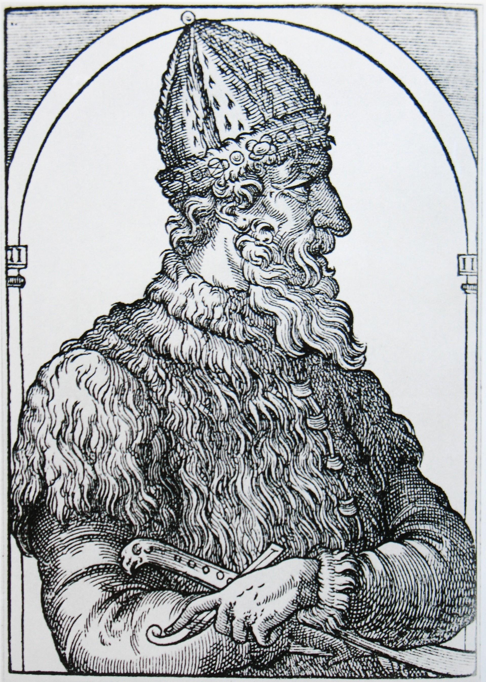 Iwan III., Kupferstich, 16. Jahrhundert
