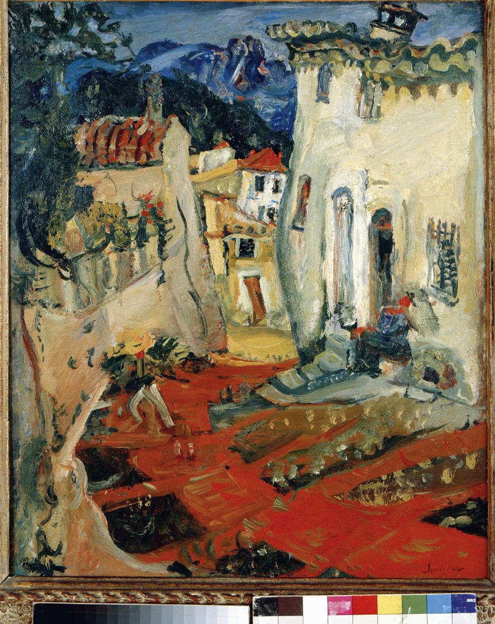 Rue à Cagnes, 1924.