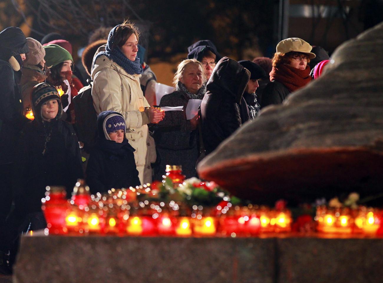 Am 29. Oktober werden traditionell die Namen der Stalin-Opfer verlesen.