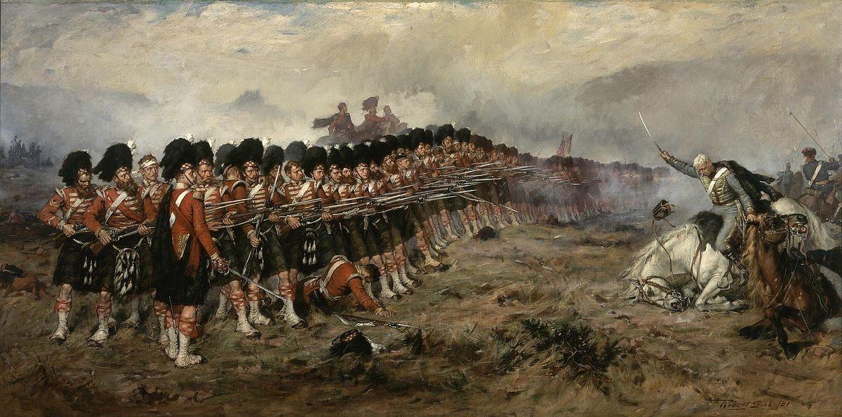 Die Schlacht von Balaklawa im Krimkrieg. Das Gemälde