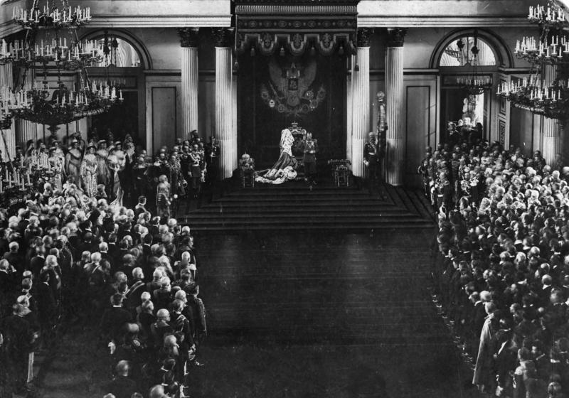 Nikolaus II. eröffnet mit einer Thronrede die Duma, das erste russische Parlament (1906)