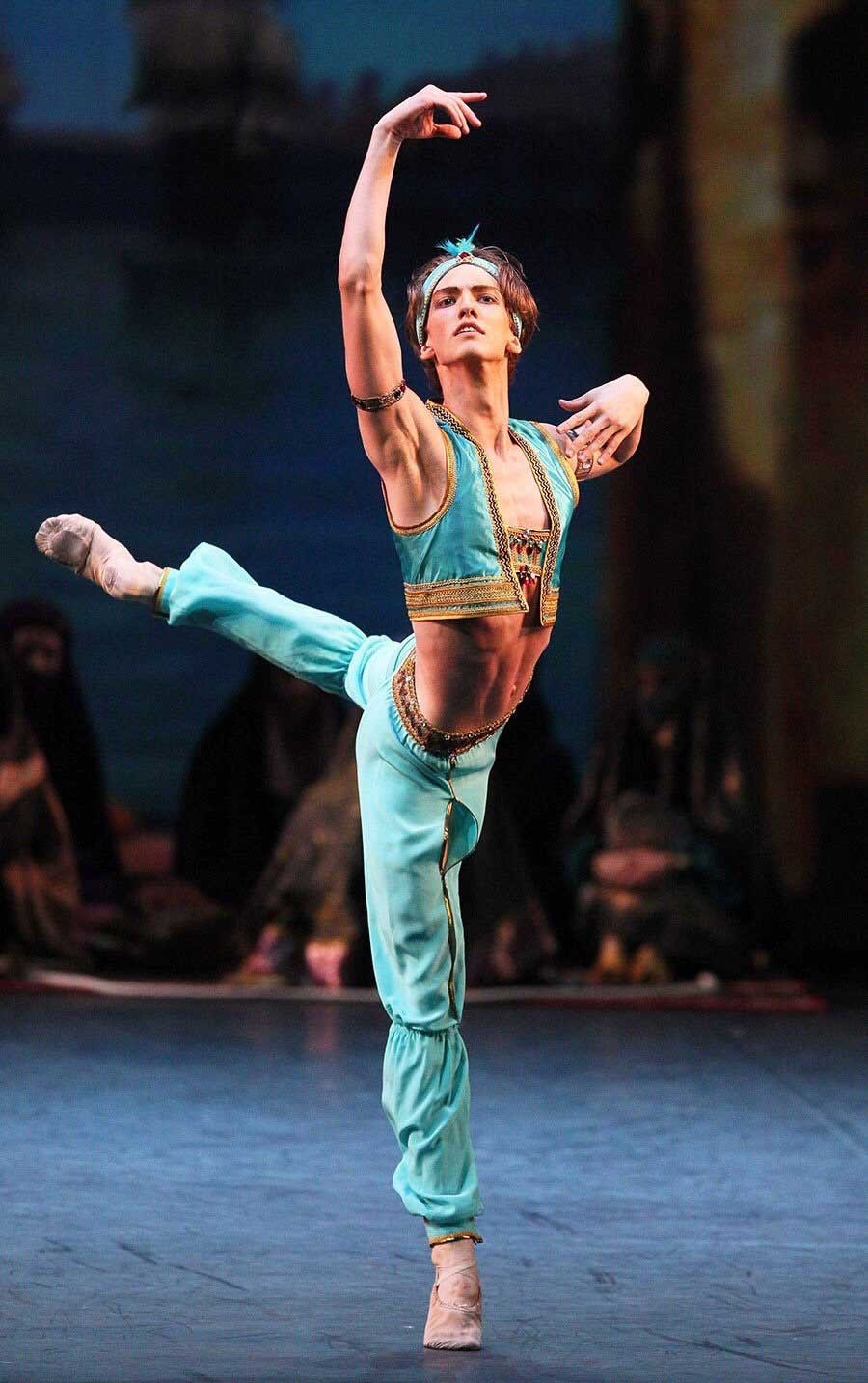 Julian as the Slave in 'Le Corsaire'