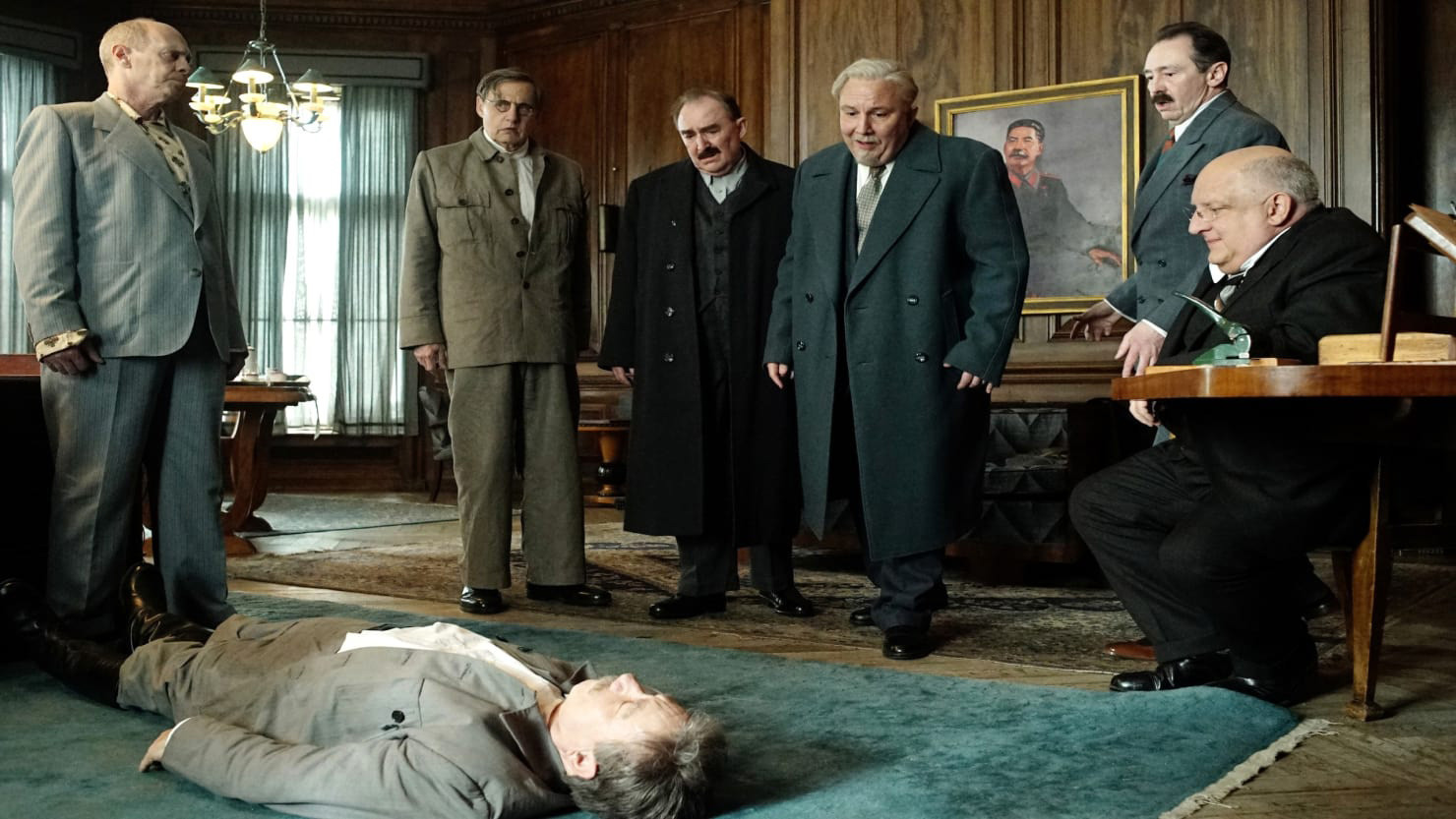 A still from the movie 'The Death of Stalin' (2017) by Armando Iannucci.