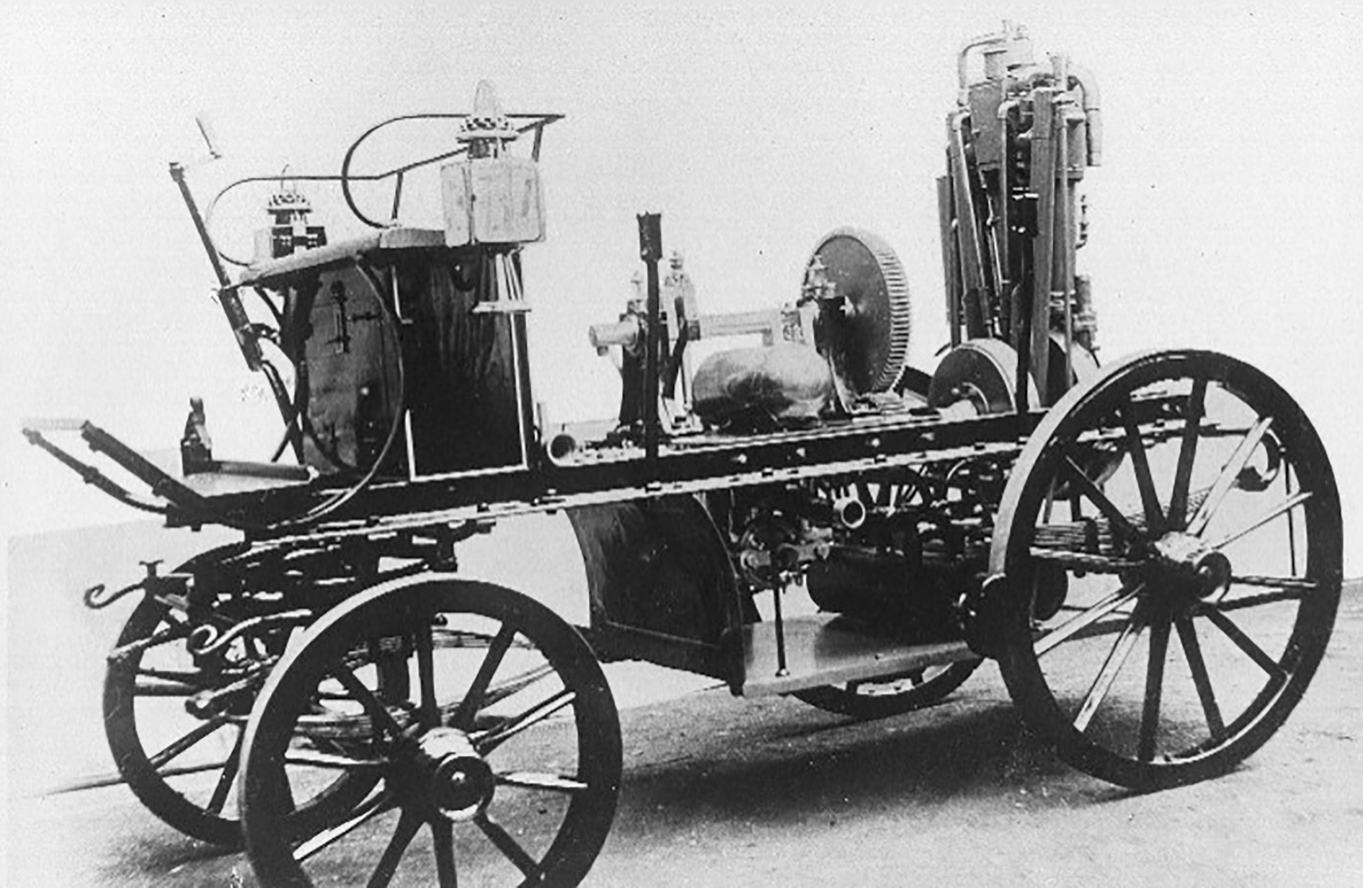 One of the first vehicles produced by the Daimler company.