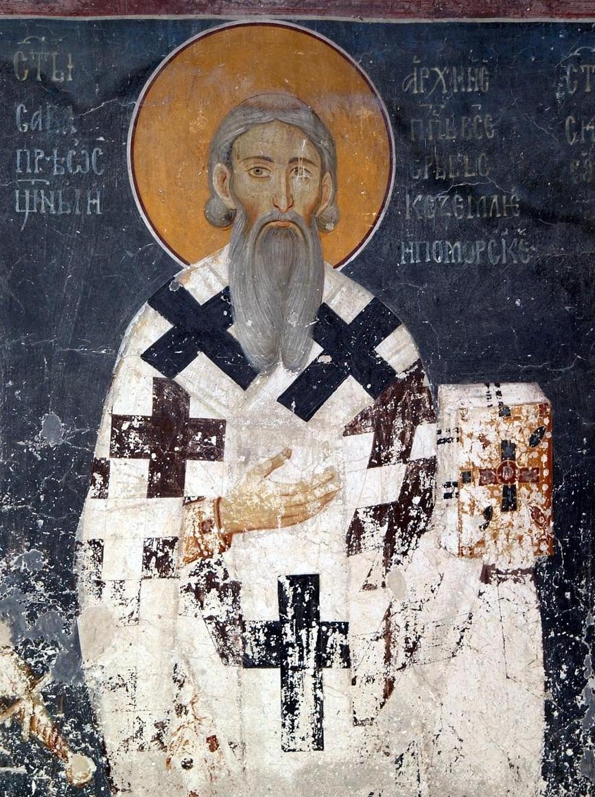 Свети Сава, фреска из манастира Студеница