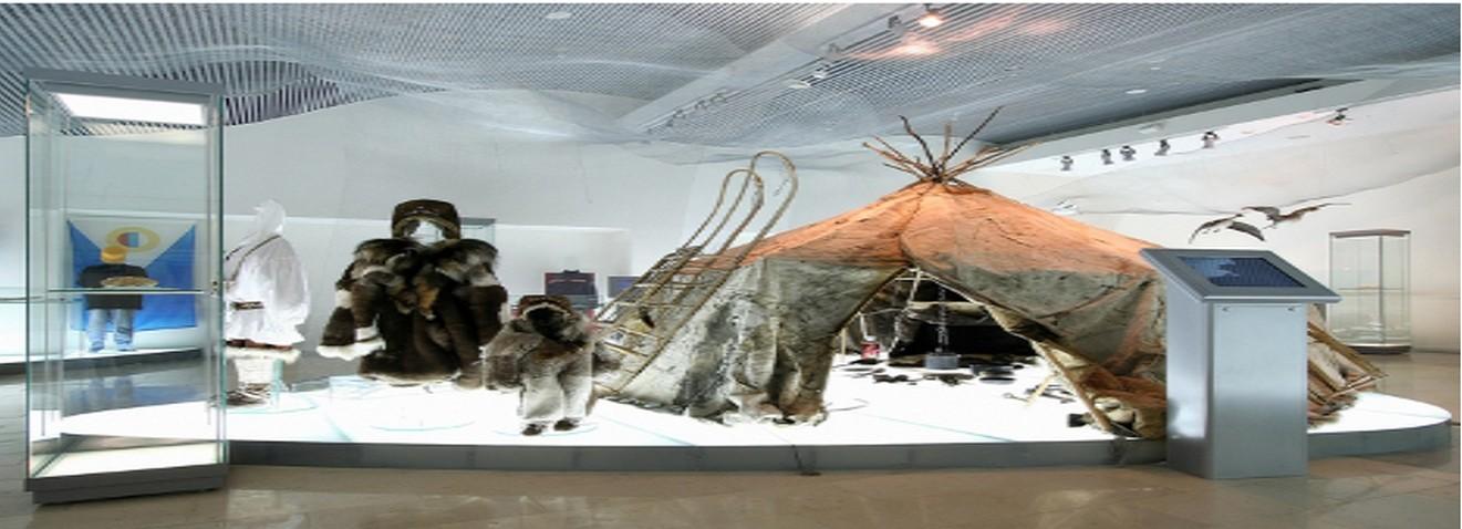 Muzej mesta Anadir, kjer lahko spoznate vse vidike življenja na skrajnem severu Rusije.