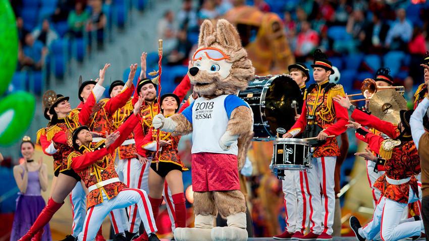 Seremoni penutupan Piala Konfederasi 2017.